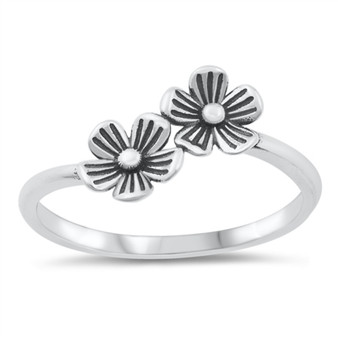 925 Sterling Silver Ring - Little Flowers