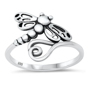 925 Sterling Silver Ring - Detailed Dragonfly