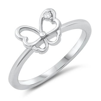 Personalized Butterfly Ring