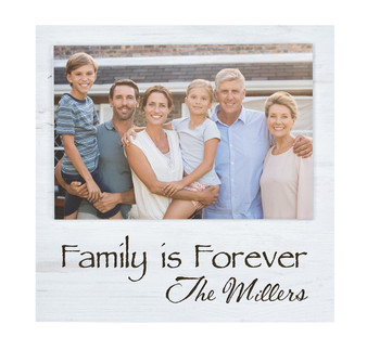 "Personalized 7"" x 7"" Offset Faux Wood Photo Frame"