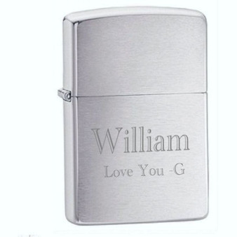 Engraved Zippo Lighters Personalized Zippo Lighters