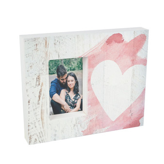 Personalized Photo Wood Frame with Heart