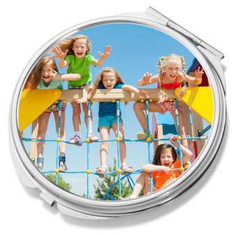 Personalized Round Compact Mirror