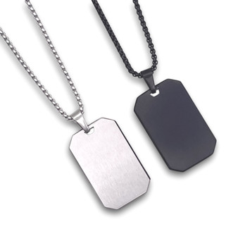 Personalized High Quality Brushed Stainless Steel Dog Tag Pendant