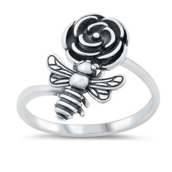 Bee & Flower Ring
