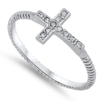 Personalized Cross Ring
