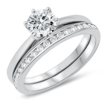 Personalized Wedding Ring Set