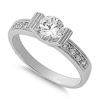 925 Sterling Silver Ring with Cubic Zirconia