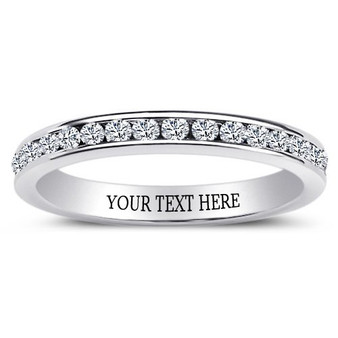 Sterling Silver Eternity Ring with Clear CZ