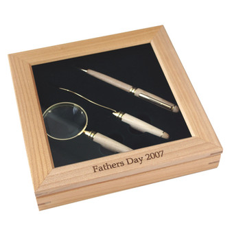 Personalize Maple Wood Delux Gift Set