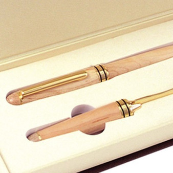 Maple Desk Gift Set with Pen/Letter Opener