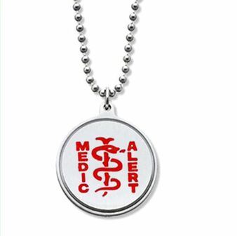 Stainless Steel High Quality Medical Alert ID Pendant