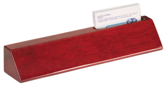 Personalized Desk Wedge with Business Card Holder