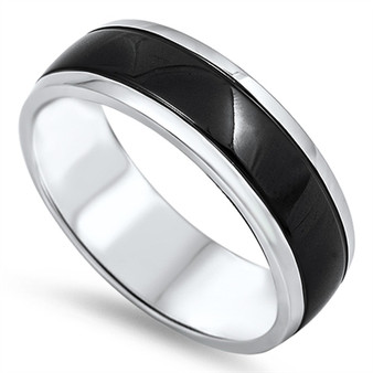 Personalized Stainless Steel Dual Tone Ring