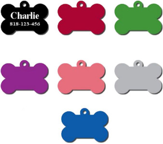 Pet ID Tag Bone Shape - Free Engraving