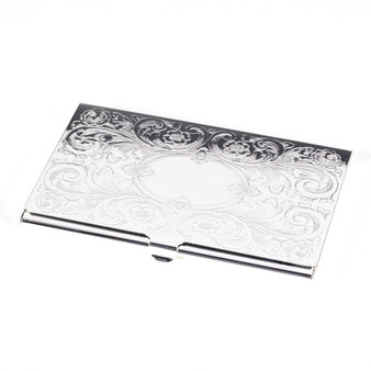 Personalized Floral Design Business Card Holder