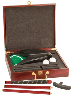 Personalized Rosewood Finish Executive Golf Gift Box Set
