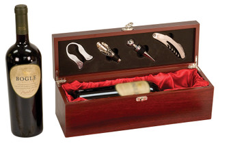 Personalized Single Wine Box With Tools