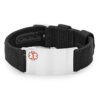 Sport Strap Medical ID Tag Bracelet - Free Engraving
