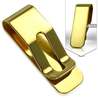 Personalized Stainless Steel Gold Color Money Clip
