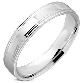 5mm Stainless Steel Comfort Fit Band Ring - Free Engraving