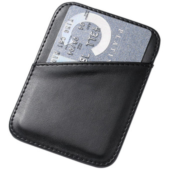 Black PU Leatherette Card Holder with Money Clip
