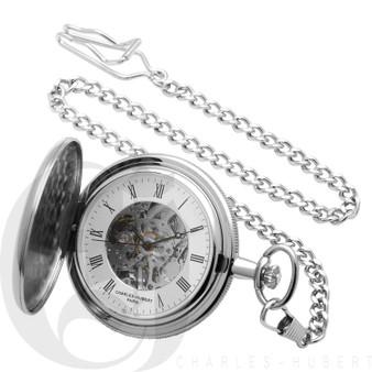 Polished Finish Hunter Case Mechanical Pocket Watch by Charles Hubert