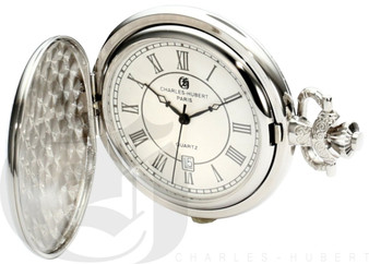 Charles-Hubert Paris Hunter Case Quartz Pocket Watch by Charles Hubert