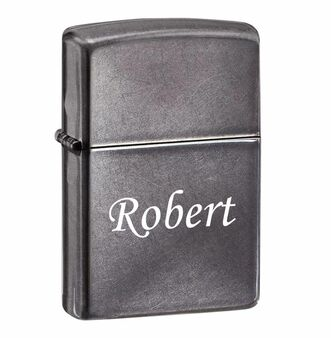 Personalized Zippo Gray Dusk Lighter