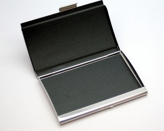 Black and Silver Business Card Holder