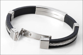 Stainless Steel with Rubber ID bracelet