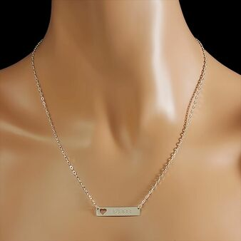 a7e23bae81fda Sterling Silver Name Bar Necklace - ForeverGifts.com