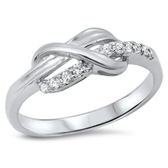 Personalized Quality Sterling Silver Infinity Ring