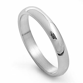 4mm Stainless Steel Plain Band Ring - Free Engraving