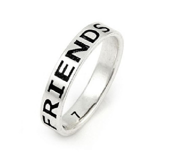 Personalized 4mm Sterling Silver Friends Forever Band Ring