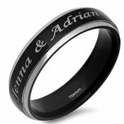 Customizable Band Ring Engagement Band Ring Motto Band Ring Silver Gift For Lovers Engraved Band Ring Best Quality Silver Ring
