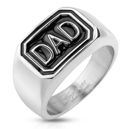 Personalized Stainless Steel DAD Ring - Free Engraving