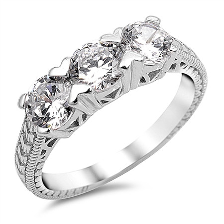 7f8343426174f Sterling Silver With Cubic Zirconia Promise Ring