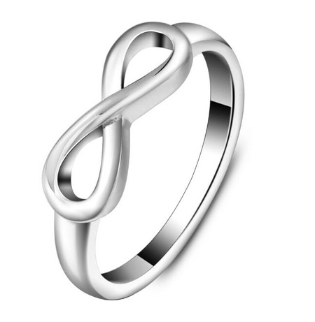 Personalized Plain Stainless Steel Infinity Ring