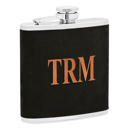 Personalized 6 oz. Black Velvet Stainless Steel Flask