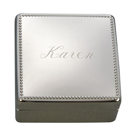 Engraved Jewelry Box