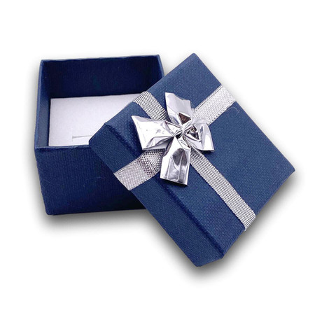 """ANNIVERSARY//BIRTHDAY//CHRISTMAS GIFT Silver Dipped 6/"""" Rose in Blue Satin /& Box"""