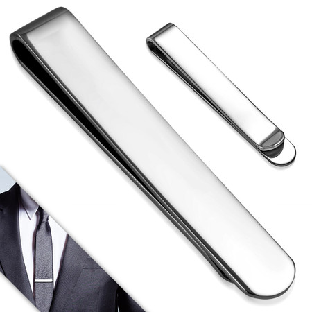 567188e0447e Personalized Stainless Steel Plain Tie Clip - Free Engraving ...