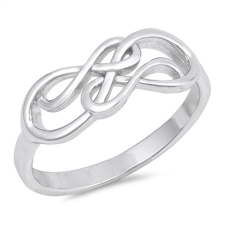 3d6f5bb5e5034 Personalized Sterling Silver Double Infinity Ring