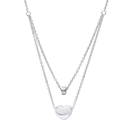 Personalized Stainless Steel Small Heart Charm Necklace