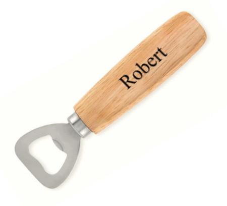 Personalized Wood Handle Bottle Opener - Free Engraving