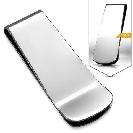 Stainless Steel Personalized Mirror Finish Money Clip Free Engraving