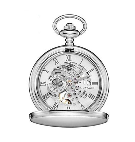 2a06e3ddd568a ... Personalized Mechanical Hand Wind Luxury Pocket Watch with Roman  Numerals. Pocket Watch