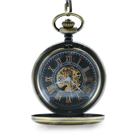 622e3aafc Personalized Antique Bronze Mechanical Pocket Watch - ForeverGifts.com