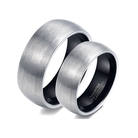 9ba15108d7 Personalized His & Hers Tungsten Brushed Promise Ring - ForeverGifts.com